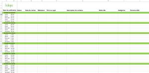 calendrier éditorial à télécharger